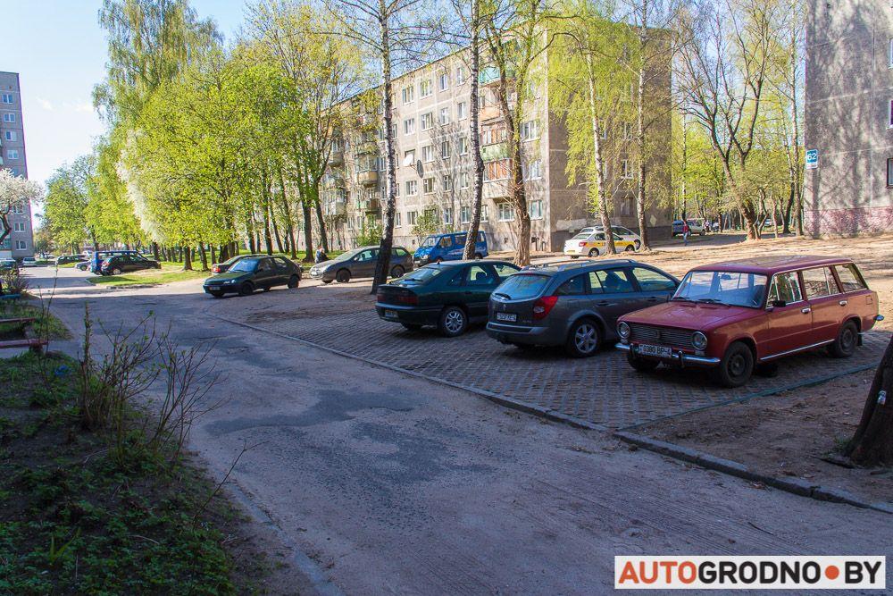 Экологическая парковка в Гродно