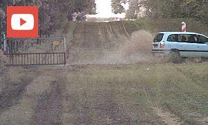 Видеофакт: пьяный поляк на Opel прорвался через польско-белорусскую границу