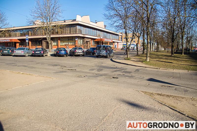 Ямы в Гродно ломают автомобили