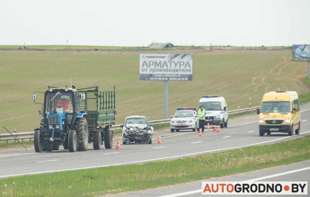 авария с трактором matiz на М6