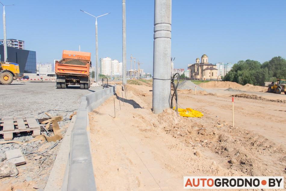 Расширение и реконструкция проспекта Я.Купалы в Гродно возле Тринити