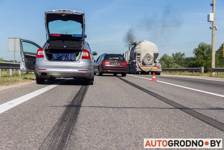 Авария на пешеходном переходе на М6 возле Гродно