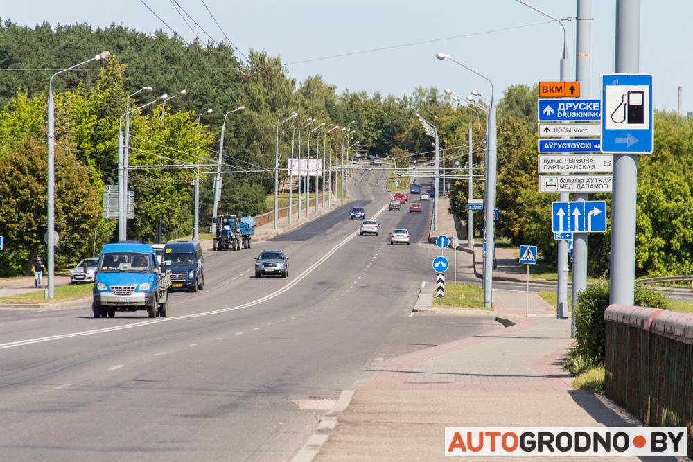 Ремонт моста по улице Поповича в Гродно 2019