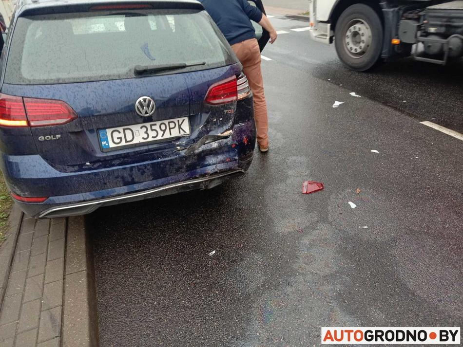 Попал в аварию в Гданьске в Польше