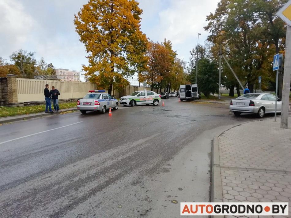 Авария на Красноармейской в Гродно 1 октября 2019