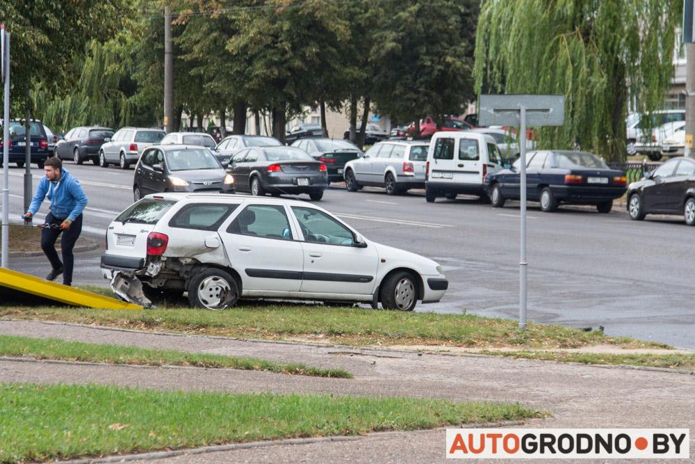 Авария возле Радуги на Врублевского в Гродно 10 сентября 2019