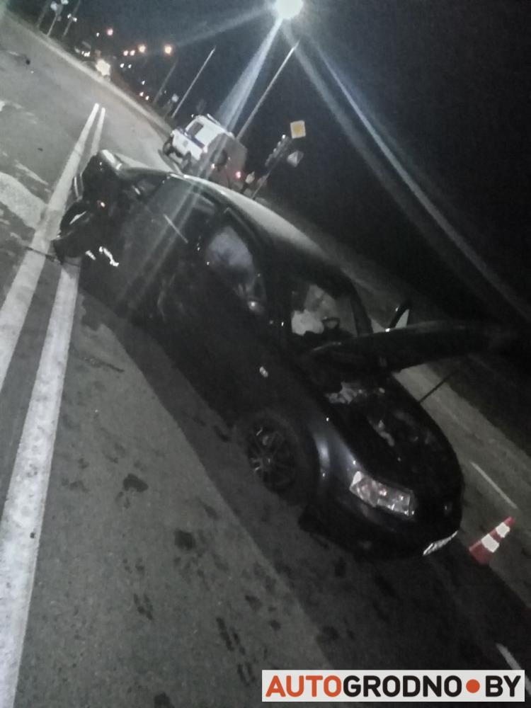 Авария на Белых Росах в Гродно в ночь с 14 на 15 октября 2019