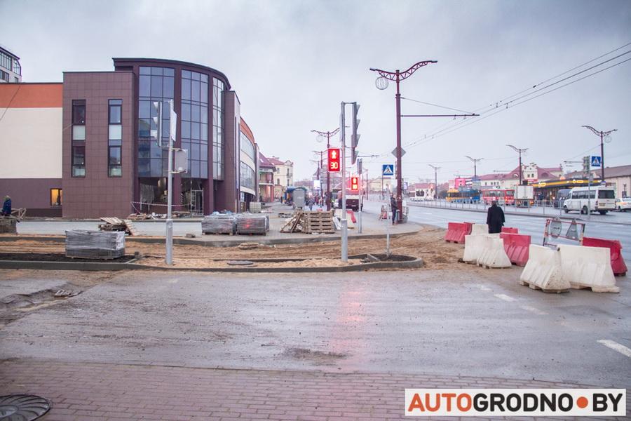 Торговый центр и Бургеркинг возле автовокзала в Гродно