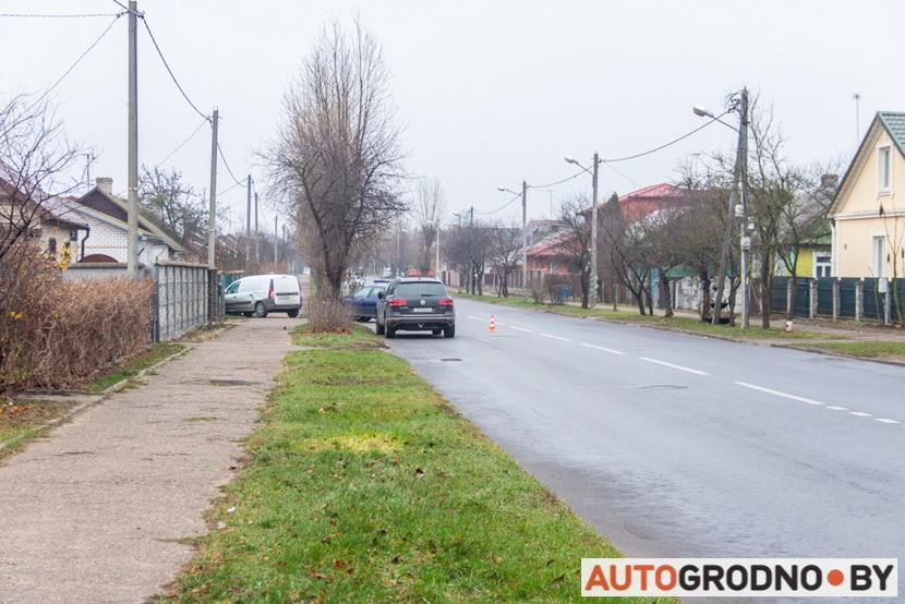 Авария на Николаева в Гродно 27 ноября 2019