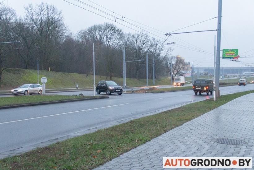 Светофор на Клецкова в Гродно на развороте