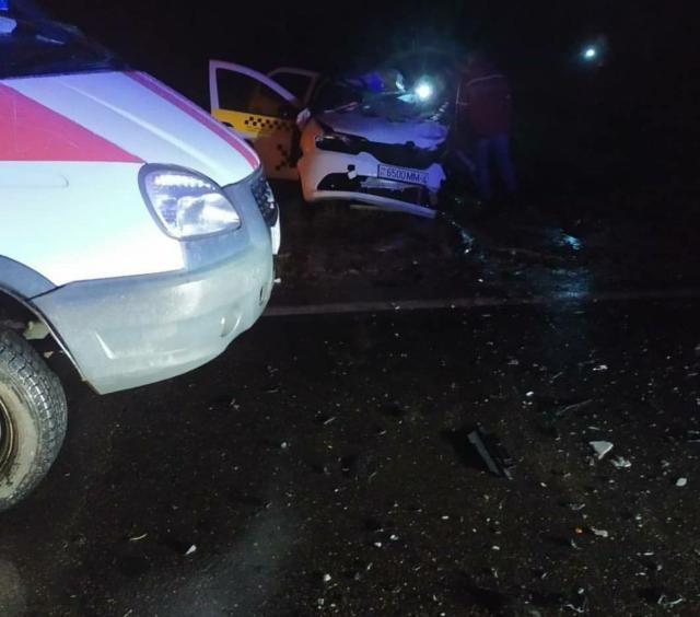 Авария такси на трассе Зельва-Слоним
