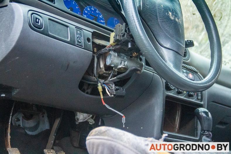 Kia Sephia в поле на трассе М6 дрифт 01 февраля 2020