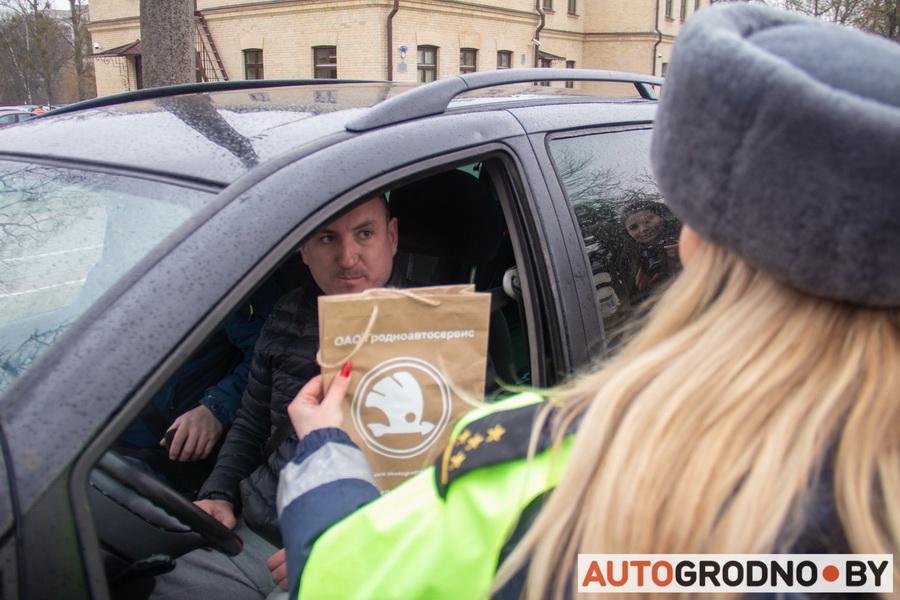 Акция ГАИ 23 февраля Гродно