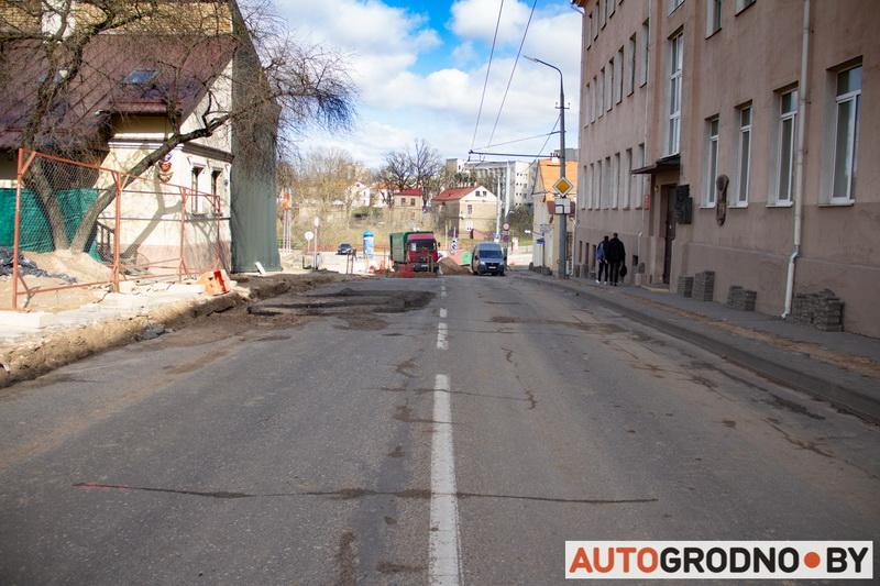 Ремонт улицы Большая Троицкая в Гродно 2020