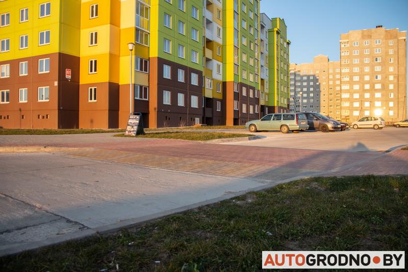 Фотографии строительства микрорайона Грандичи в Гродно 2020