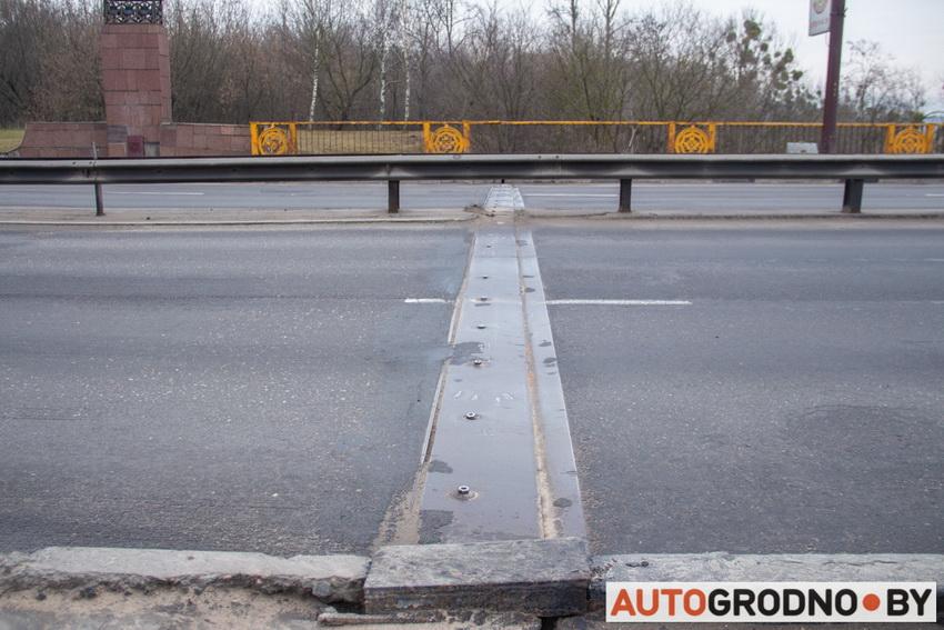 Яма на Румлевском мосту в Гродно 2020