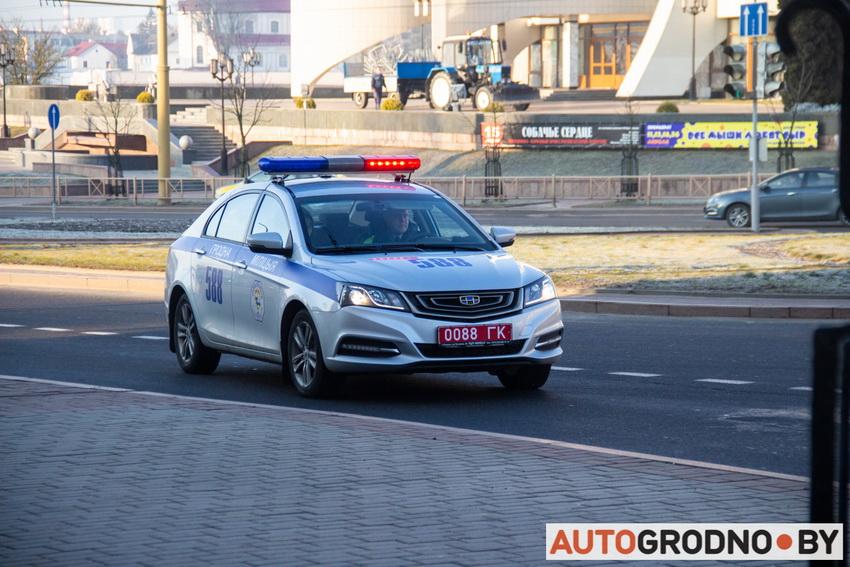 Наезд на пешехода в центре Гродно на Батория 6 марта 2020