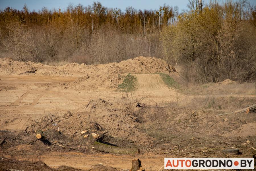 Как разрушили трассу мотокросса и автокросса в Гродно