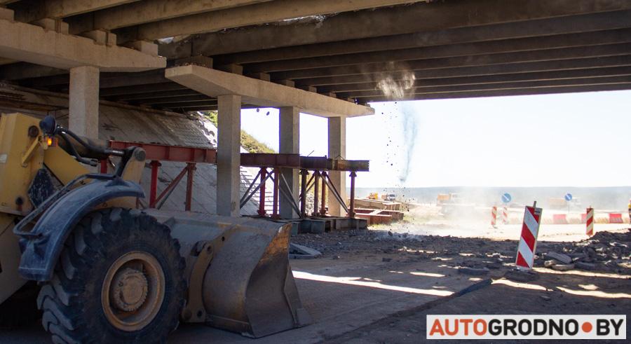 На въезде в Гродно рушат мост