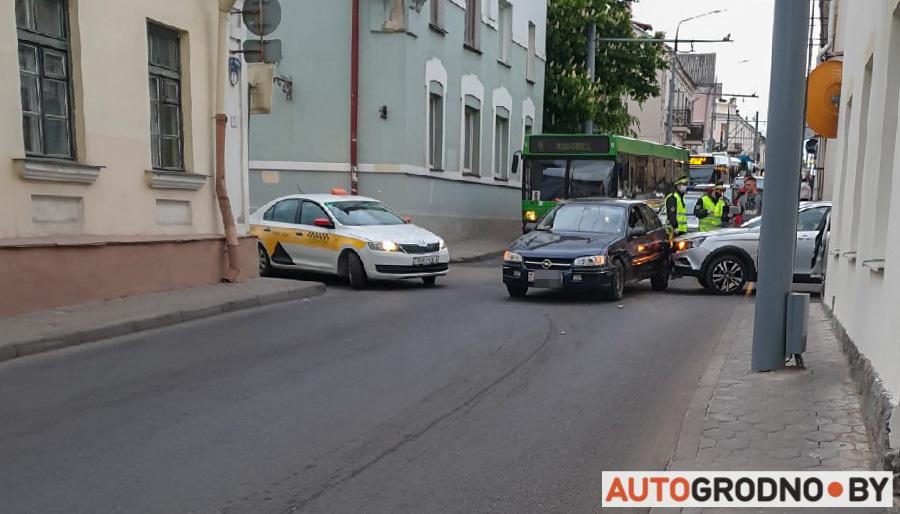 Авария на Кирова Городничанской в Гродно 16 мая 2020