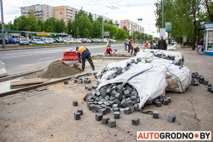 Благоустройства пропекта Я.Купалы в Гродно 2020