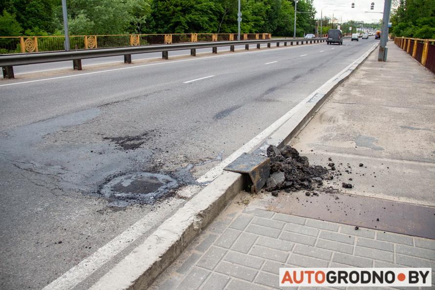 Ремонт Румлевского моста в Гродно 28 мая 2020