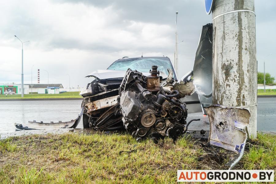 Авария возле Ольшанки в Гродно 26 мая