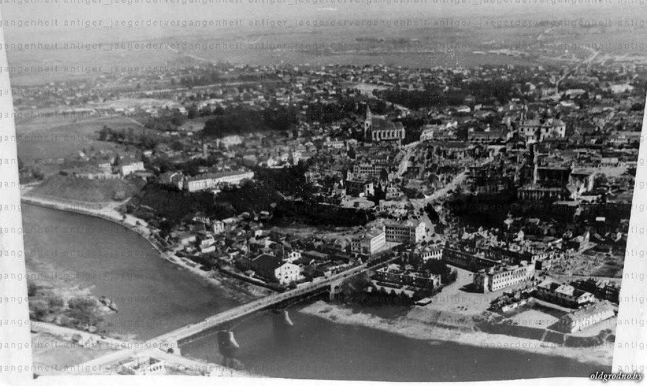 Вид на разрушенный Гродно. 1941 год