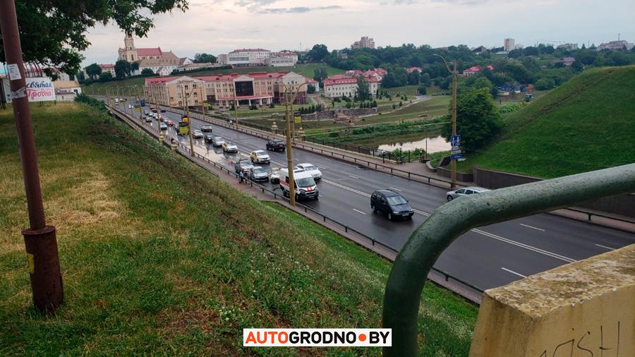 Авария на Старом мосту в Гродно 27 июня