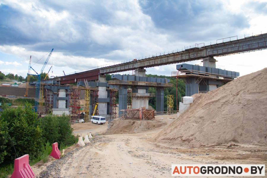 Четвертый мост в Гродно за год до открытия фото АвтоГродно