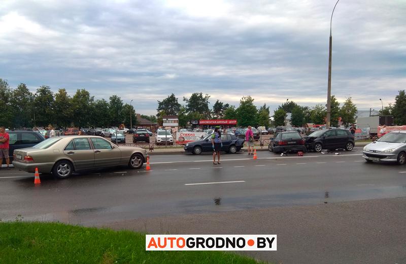 Авария на Ольги Соломовой Гродно 6 июля 2020