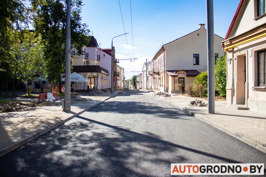 Как отремонтировали улицу Кирова в Гродно фото АвтоГродно 2020 год