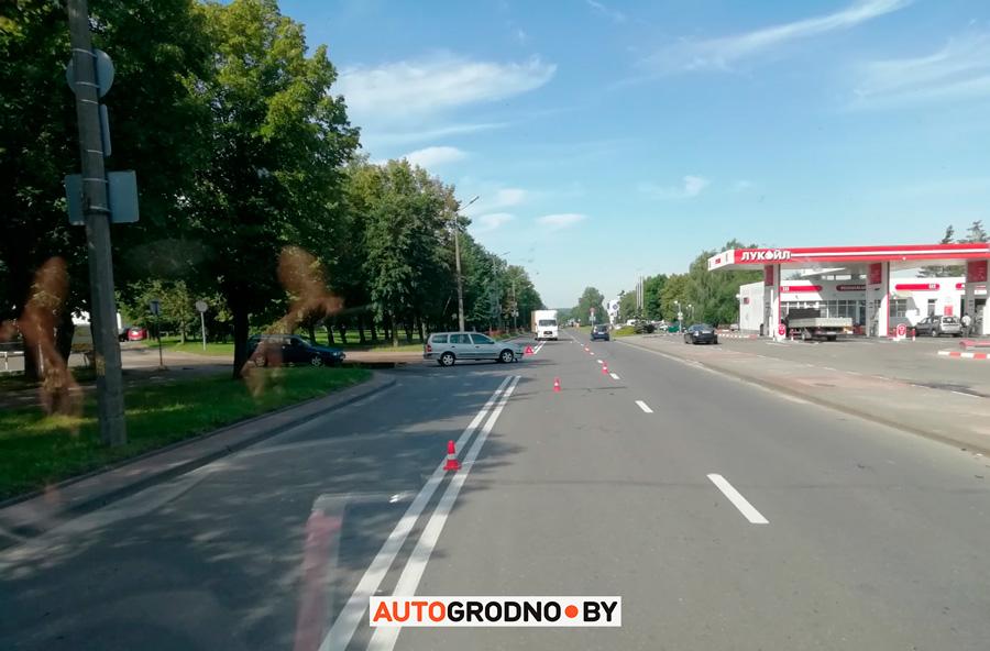 Авария с мотоциклистом в Гродно на Богуцкого 20 июля 2020