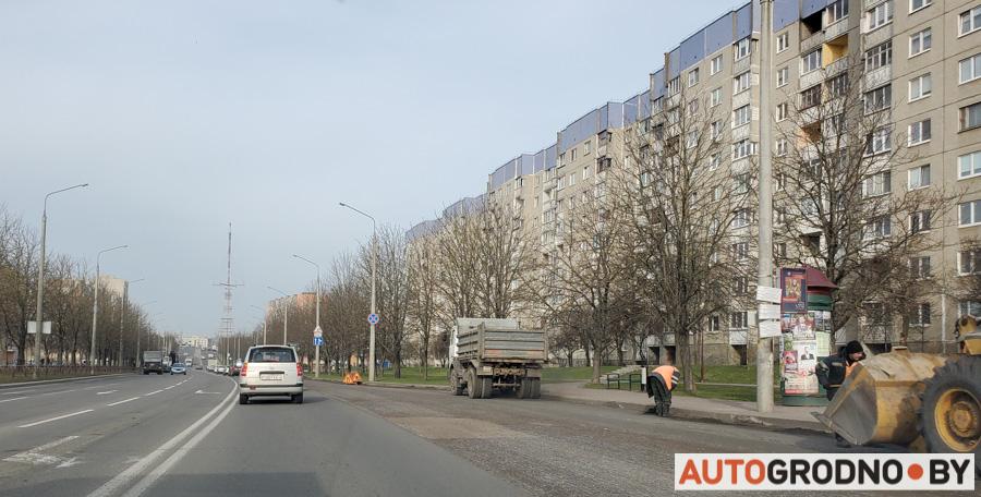 Ремонт улицы Брикеля в Гродно