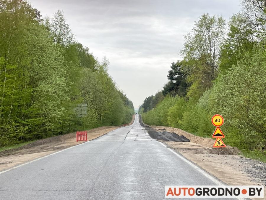 Как ремонтируют дорогу на Ольшанку
