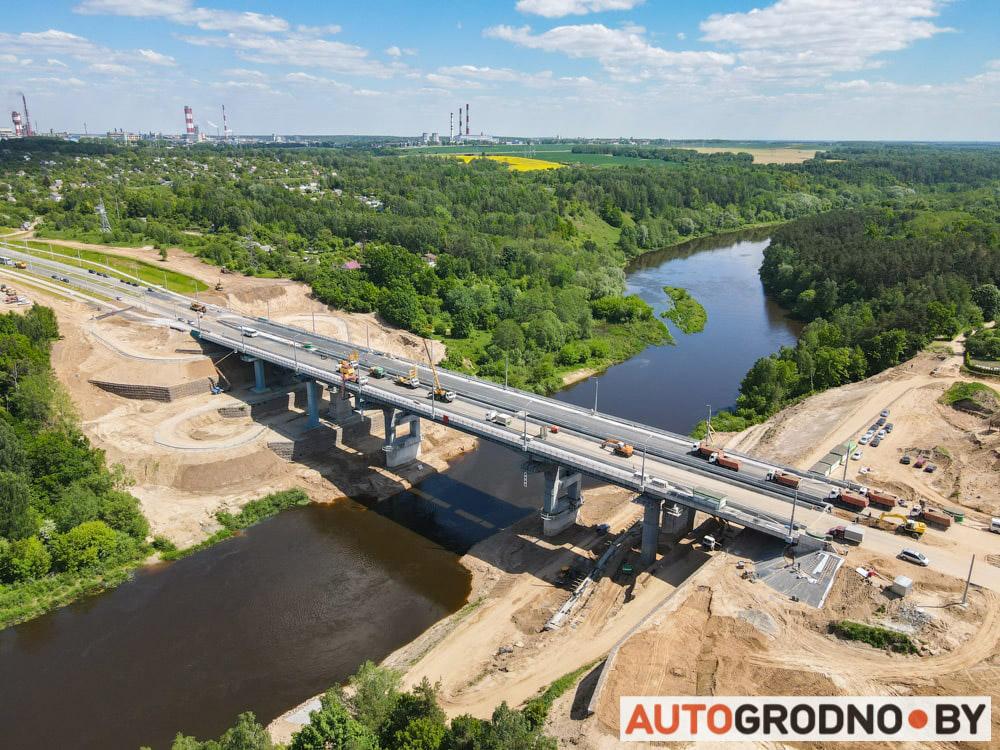 Проверка - какой вес может выдержать четвертый мост Гродно тест под нагрузкой