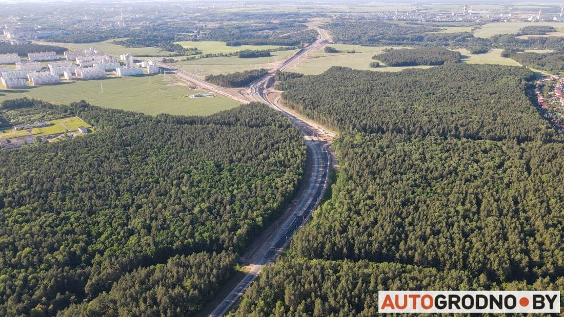 Большое объездное кольцо вокруг Гродно - объездная дорога возле Погоран Кошевники Вишневец