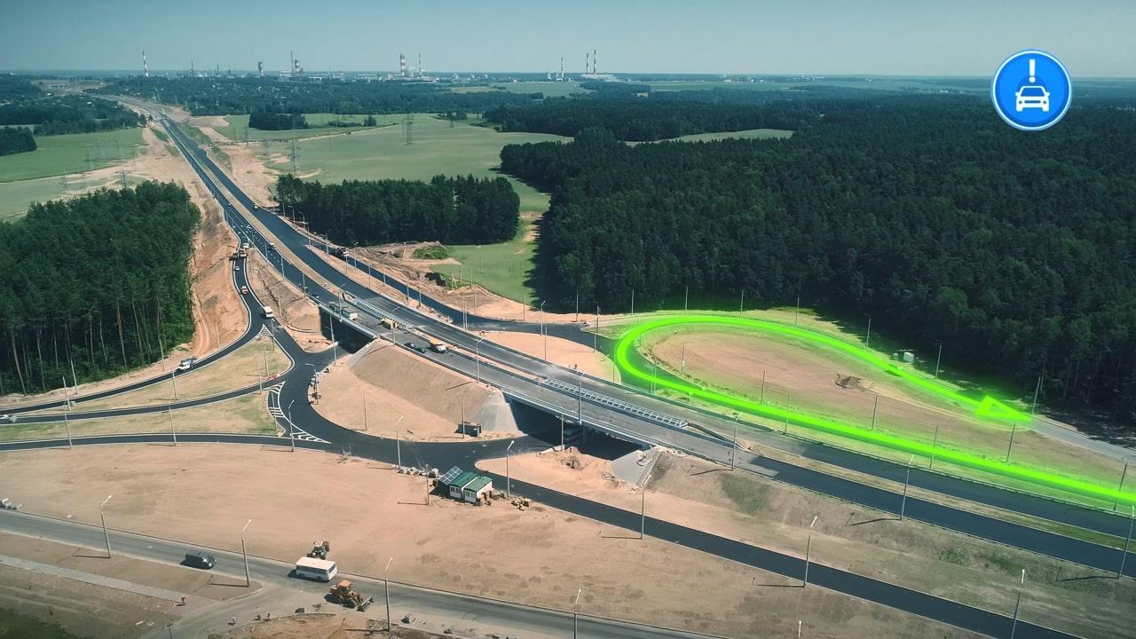 Как правильно проезжать новую развяку возле Погораны-Кошевники у Вишневца - инструкция и схема