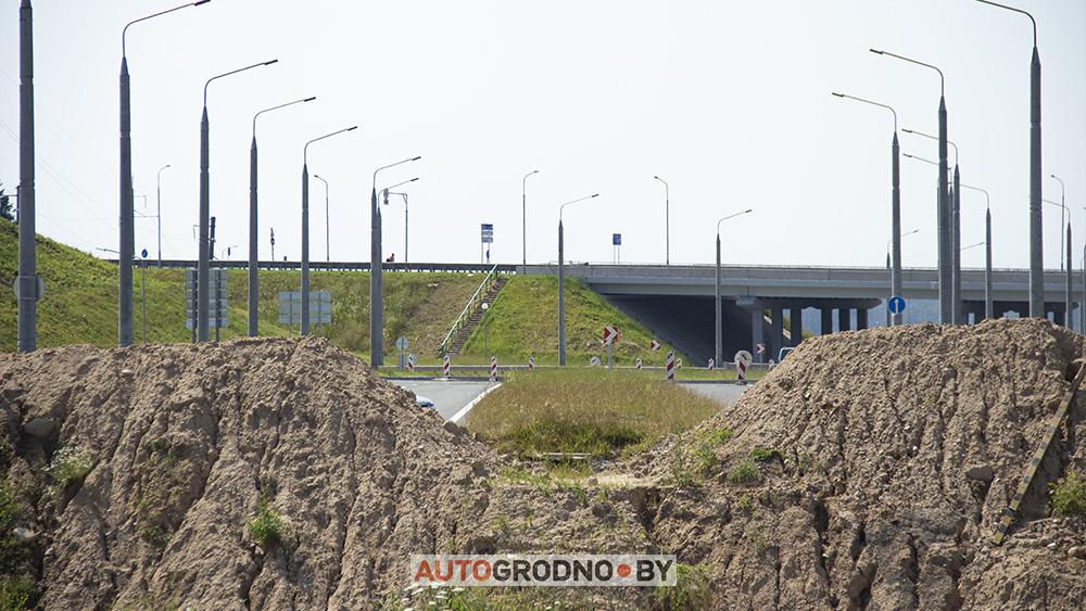 Как выглядит новая объездная дорога возле АЗОТа и проспекта Космонатов после трассы М6 Минск Гродно