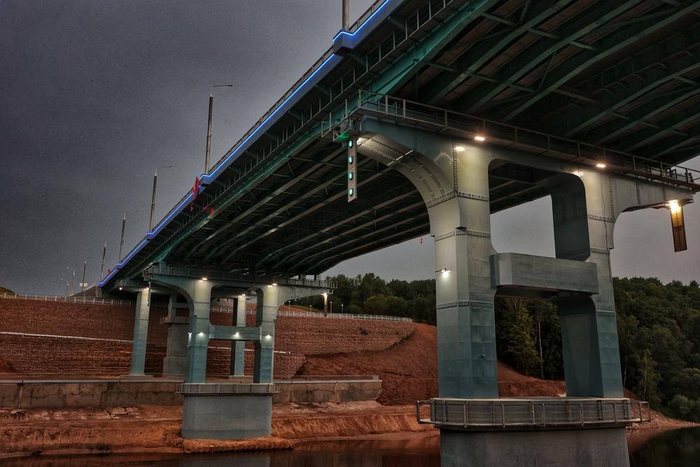 Четвертый мост в Гродно подсветка открытие
