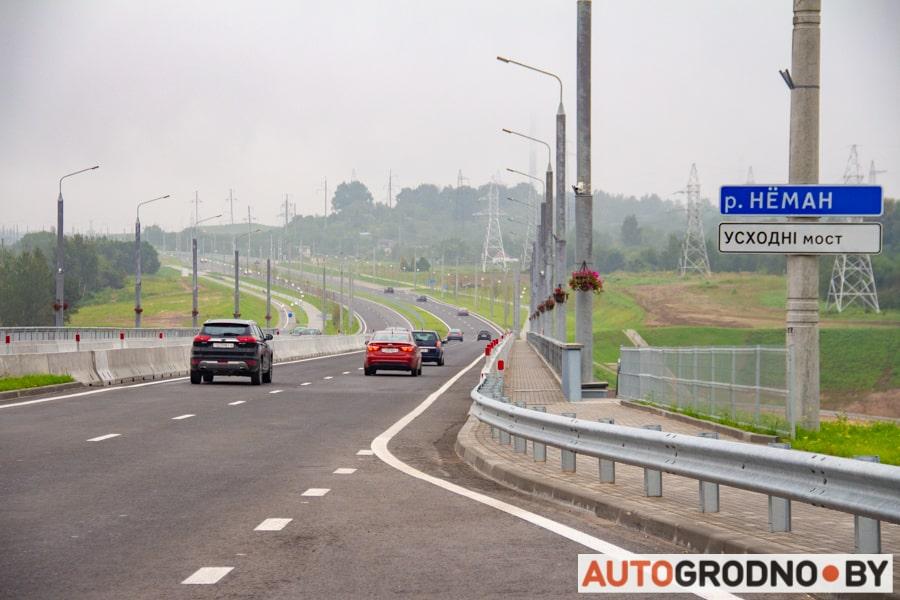Сколько автомобилей ездит по новому четвертому Восточному мосту Гродно и есть ли там пробки?