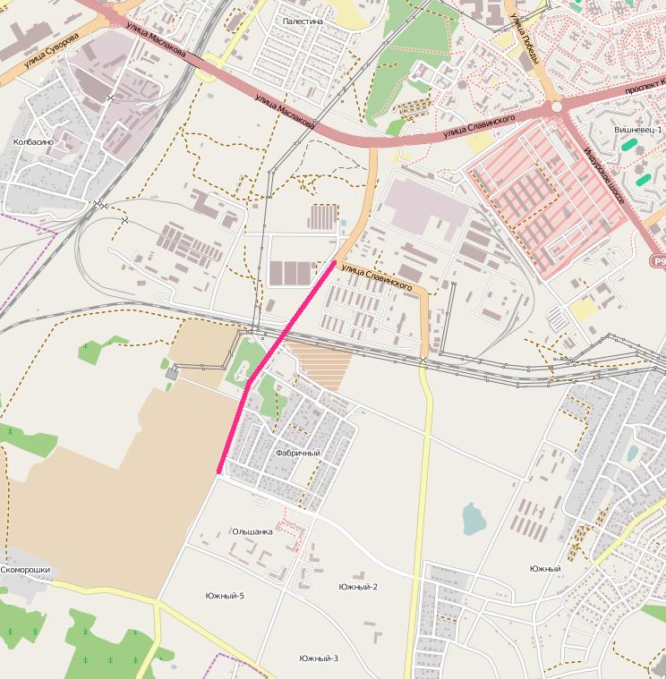 Схема новой дороги: