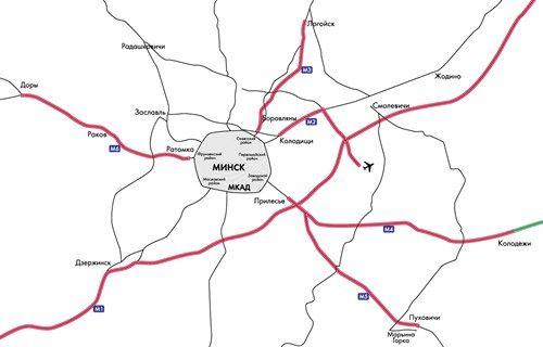 Карта платных дорог Беларуси: