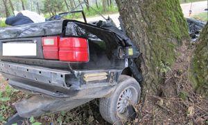Молодой водитель на только что купленной Audi попал в тяжелое ДТП возле Свислочи