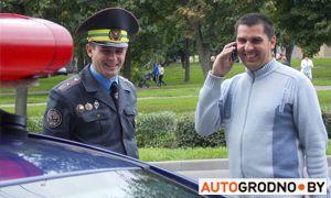 Фоторепортаж: гродненская ГАИ стала награждать подарками водителей, которые включают ближний свет фар