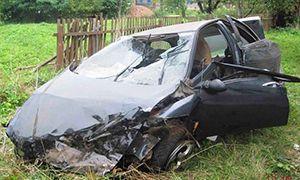 ДТП в Гродненской области: Альфа Ромео в кювете, 18-летнего водителя деблокировали