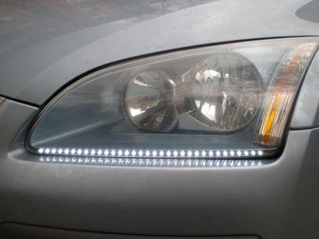 подсветка в основных фарах светодиодной лентой audi a6 c4