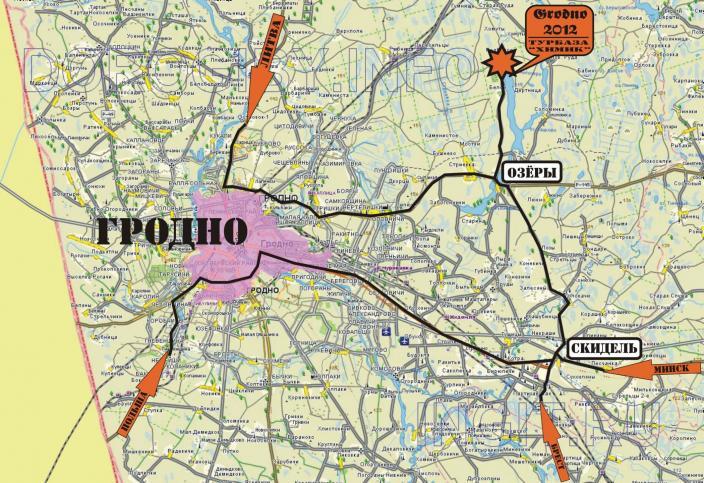 2013 Гродно. Схема проезда