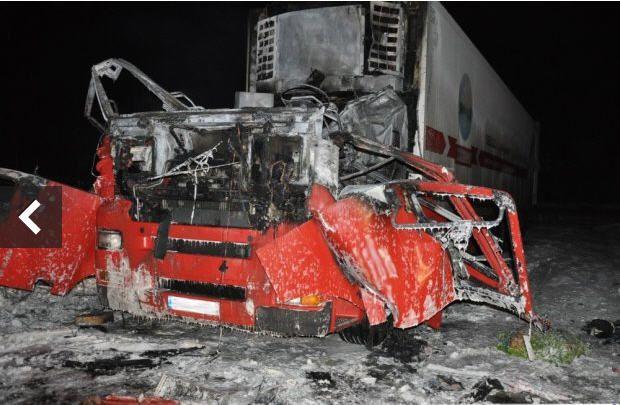 Взрыв фуры в Польше